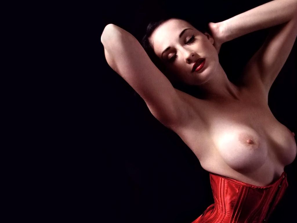 Magnificent Dita von teese naked tits are